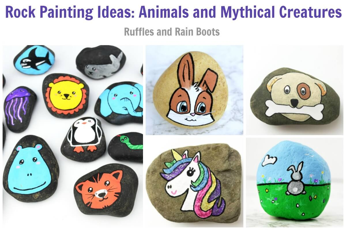 Animal Rock Painting Ideas for Kids and Adults