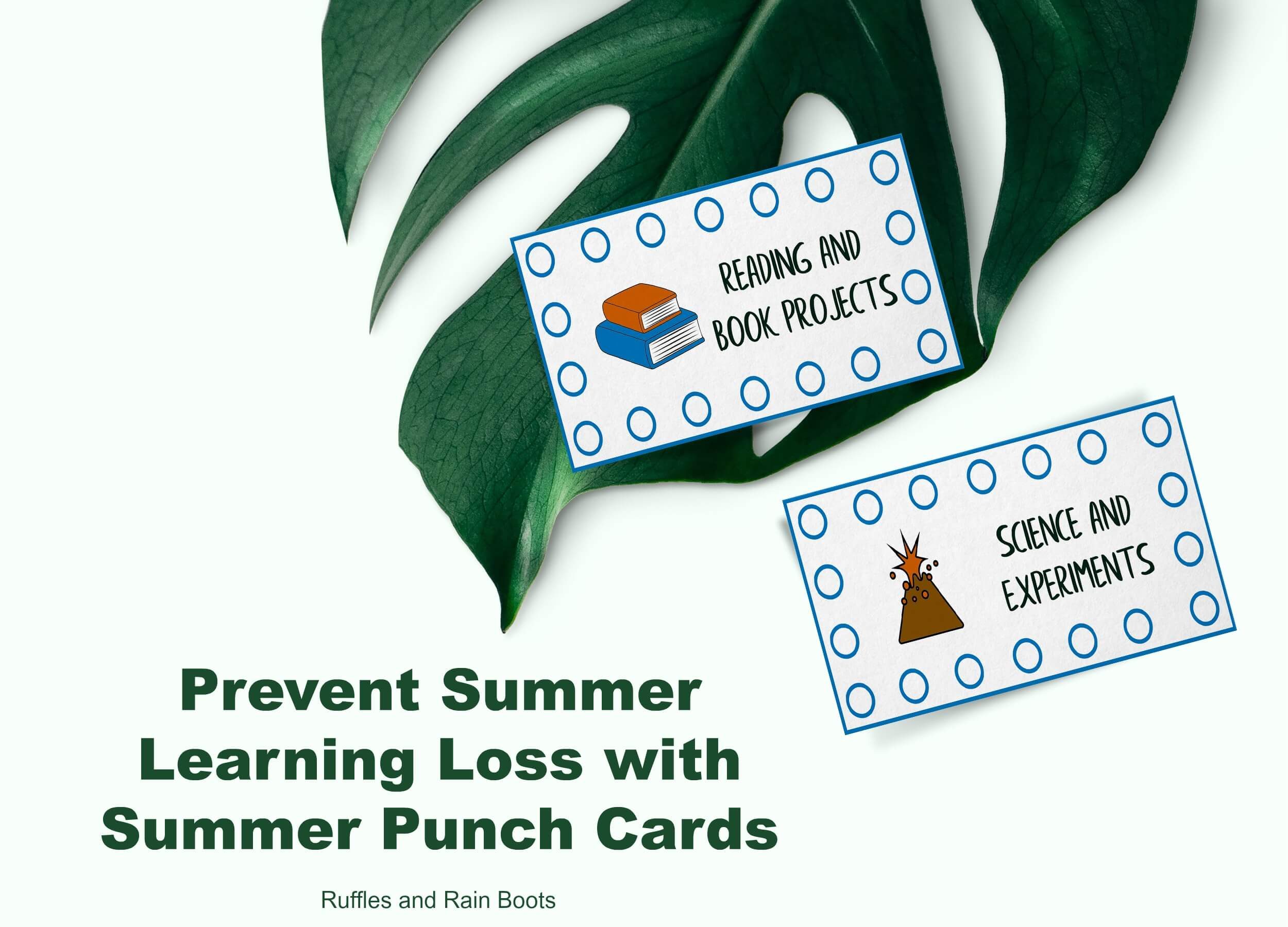 Summer Punch Cards for Kids to Prevent Summer Learning Loss