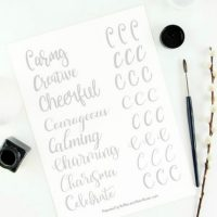 Free Letter C Brush Lettering Practice Sheets