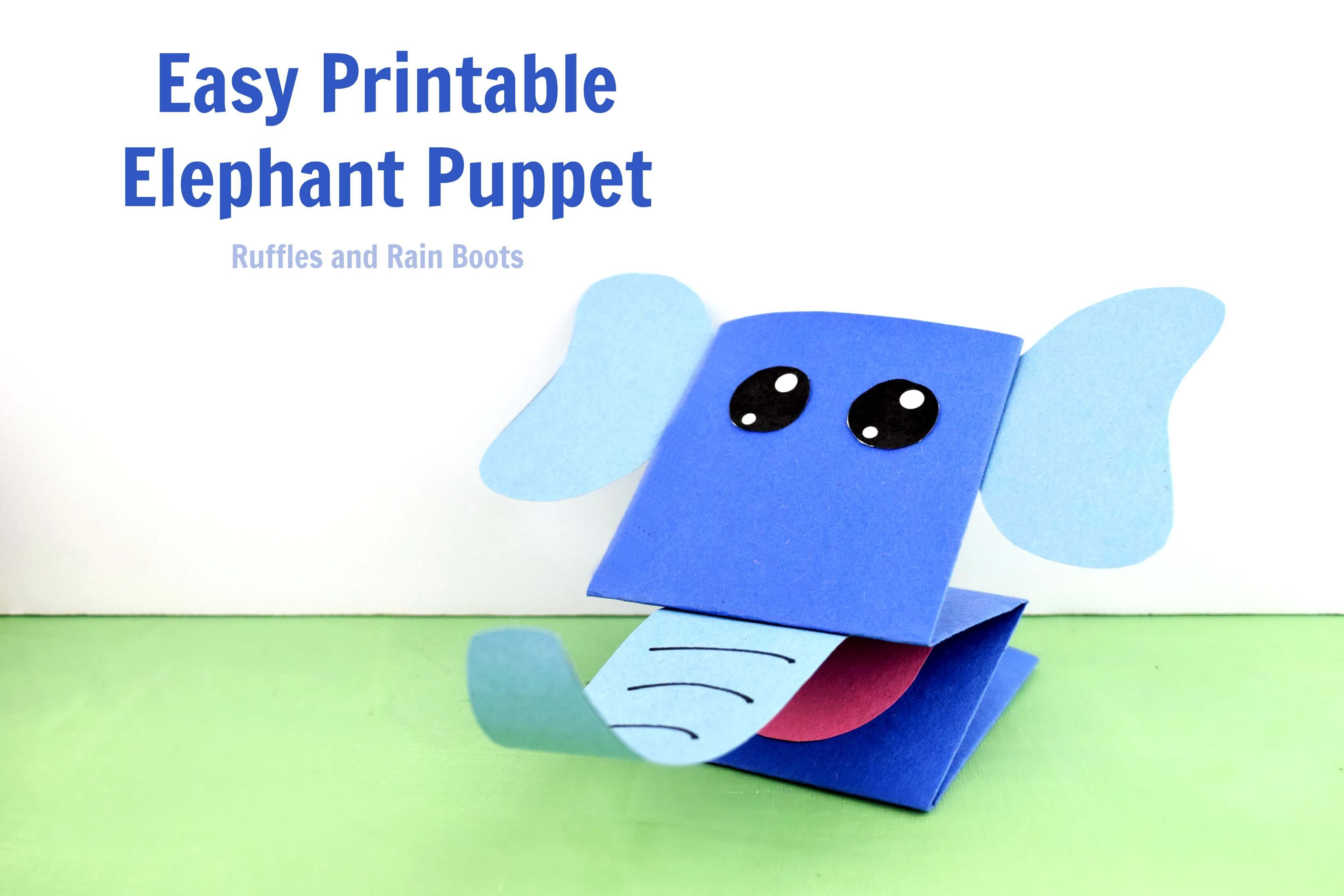 image about Printable Elephant Pictures titled Printable Elephant Paper Puppet - Consequently Stinking Adorable!