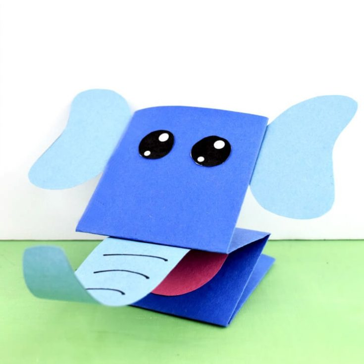 Printable Elephant Paper Puppet - So Stinking Cute!