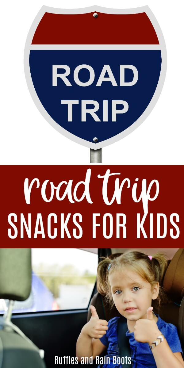 These are some of the best road trip snacks for kids that kids will actually eat. Healthy and fun car snack options don't have to be hard. #travel #roadtrip #travelingwithkids #summertravel #vacation #snacks #rufflesandrainboots