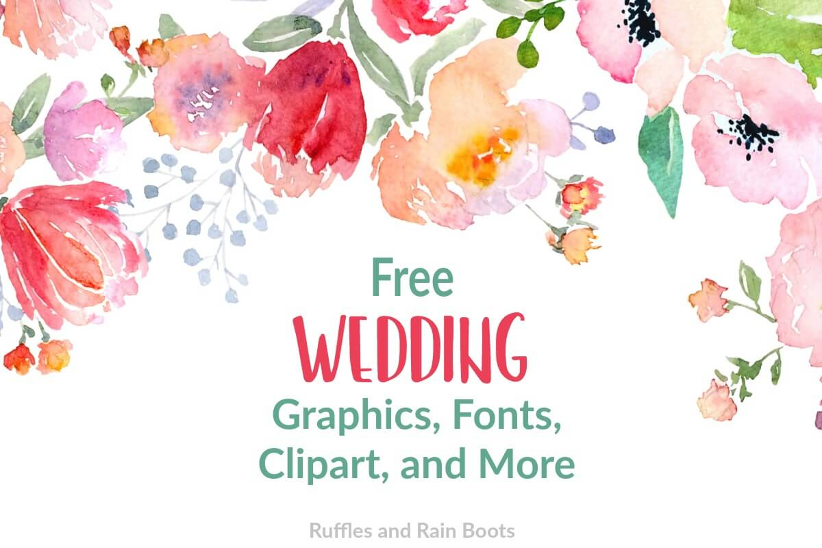 free wedding clipart SVGs fonts