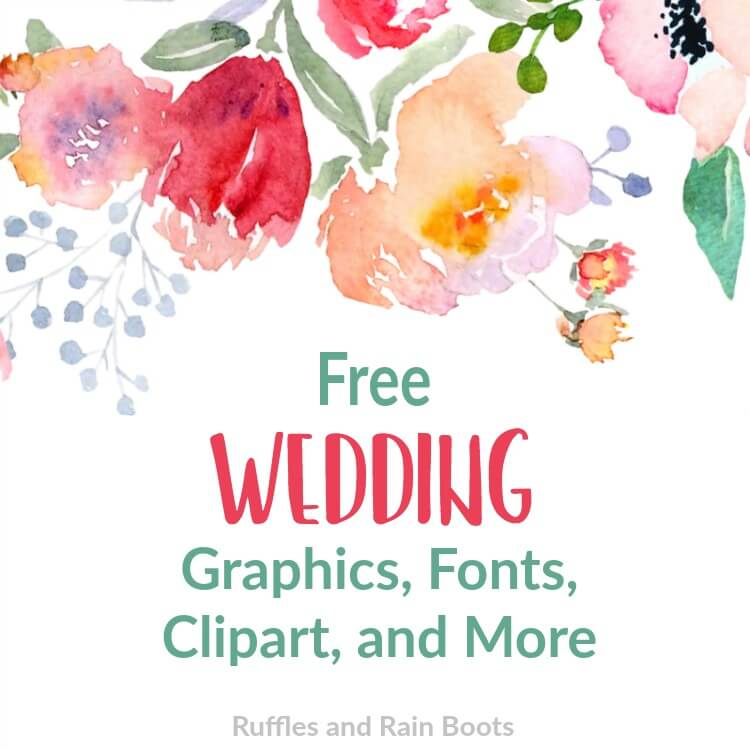 Free Wedding SVGs, Fonts, and Clipart for Gifts and Stationery