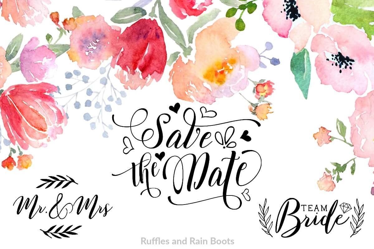 free wedding SVG wedding clipart wedding cut files save the date father of the bride bridesmaid gift