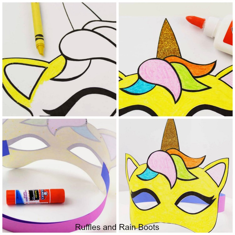 Unicorn Coloring Page Mask Unicorn Craft for Kids