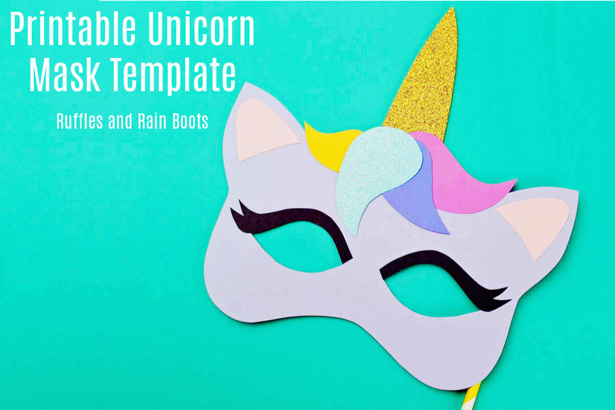 graphic about Printable Mask Templates identified as Totally free Printable Unicorn Mask - Coloring Website page and Template