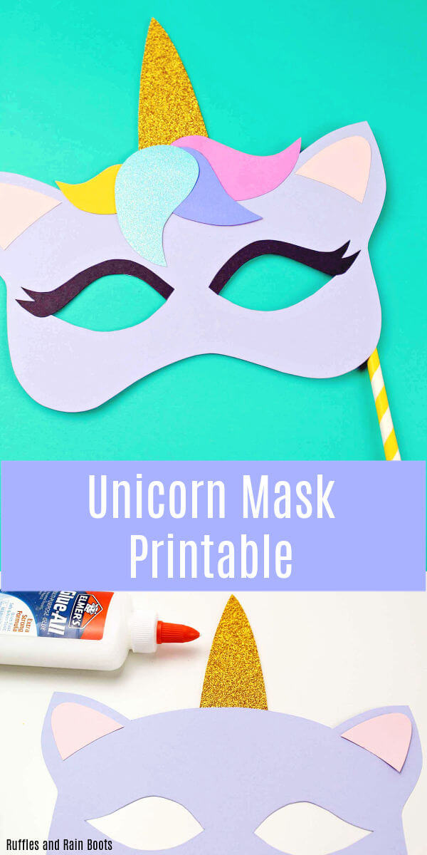 photograph relating to Free Printable Masks Templates known as No cost Printable Unicorn Mask - Coloring Web page and Template