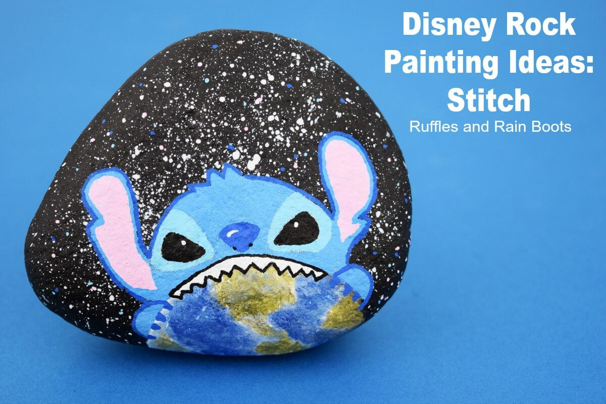 Disney Rock Painting Stitch From Lilo And Movie