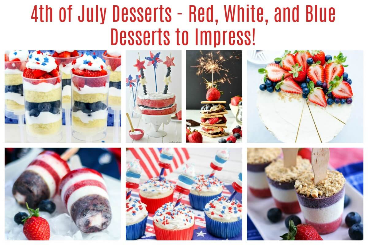 July 4th Desserts to Impress Cakes Cupcakes Candy Bark Cheesecake