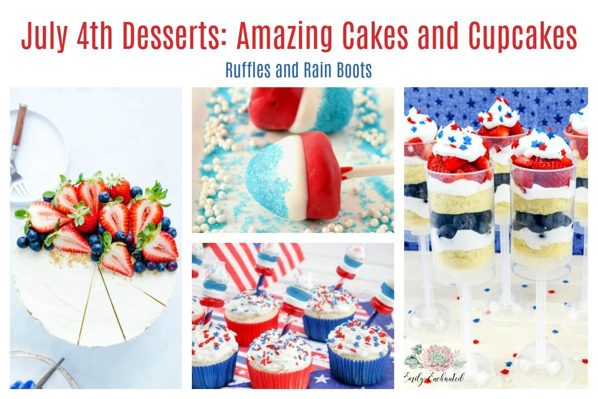 Amazing Cakes and Cupcakes for July 4th Independence Day
