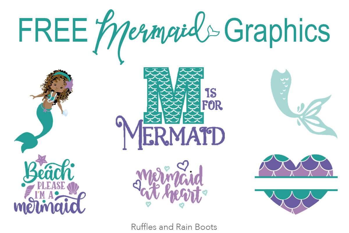 free mermaid svg graphics fonts for crafts cards scrapbooking vinyl