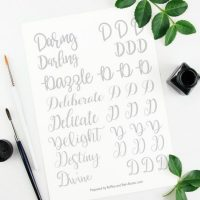 Free Printable: Letter D Hand Lettering Practice Set