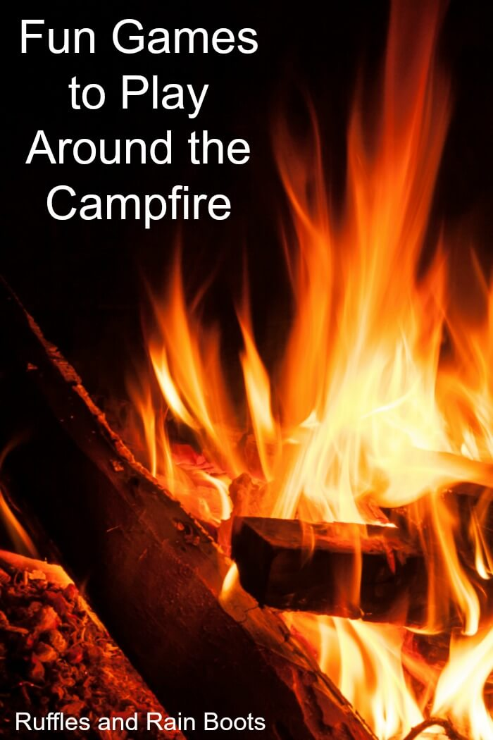 Play these fun camping games and go beyond the ghost stories. Fun games and activities for kids and families to make camping even more special! #camping #campinggames #campingactivities #campfire #campfiregames #campingwithkids #rufflesandrainboots