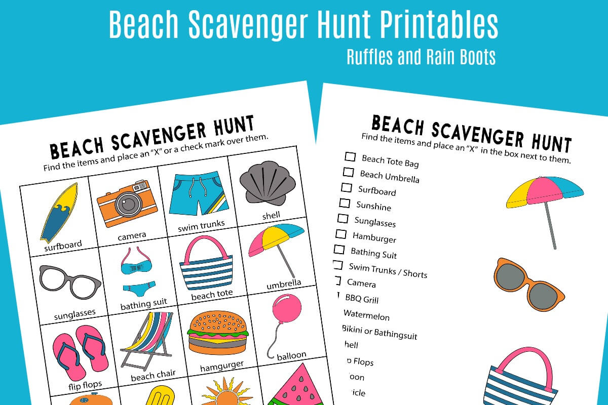 photograph relating to Printable Beach Pictures referred to as Seaside Scavenger Hunt - Printables for 2 Age Types!