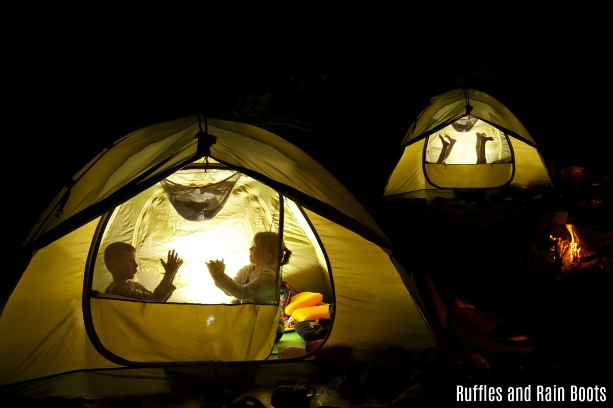 how to camp stress free with children