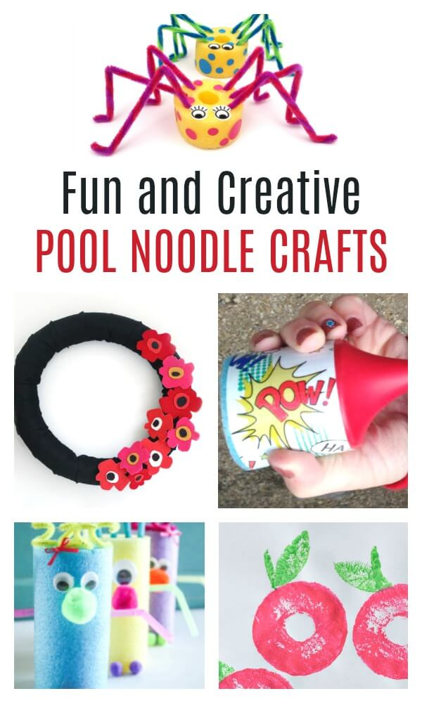 These are the most adorable and fun pool noodle crafts. From toys and games, to crafts and decor, these are creative ways to recycle pool noodles. #pinitforlater #craftsforkids #kidscrafts #kbn #poolnoodle #summer #summercrafts #summerDIY #rufflesandrainboots