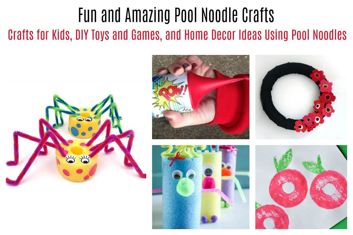 Pool noodle crafts for kids, decor, and toys
