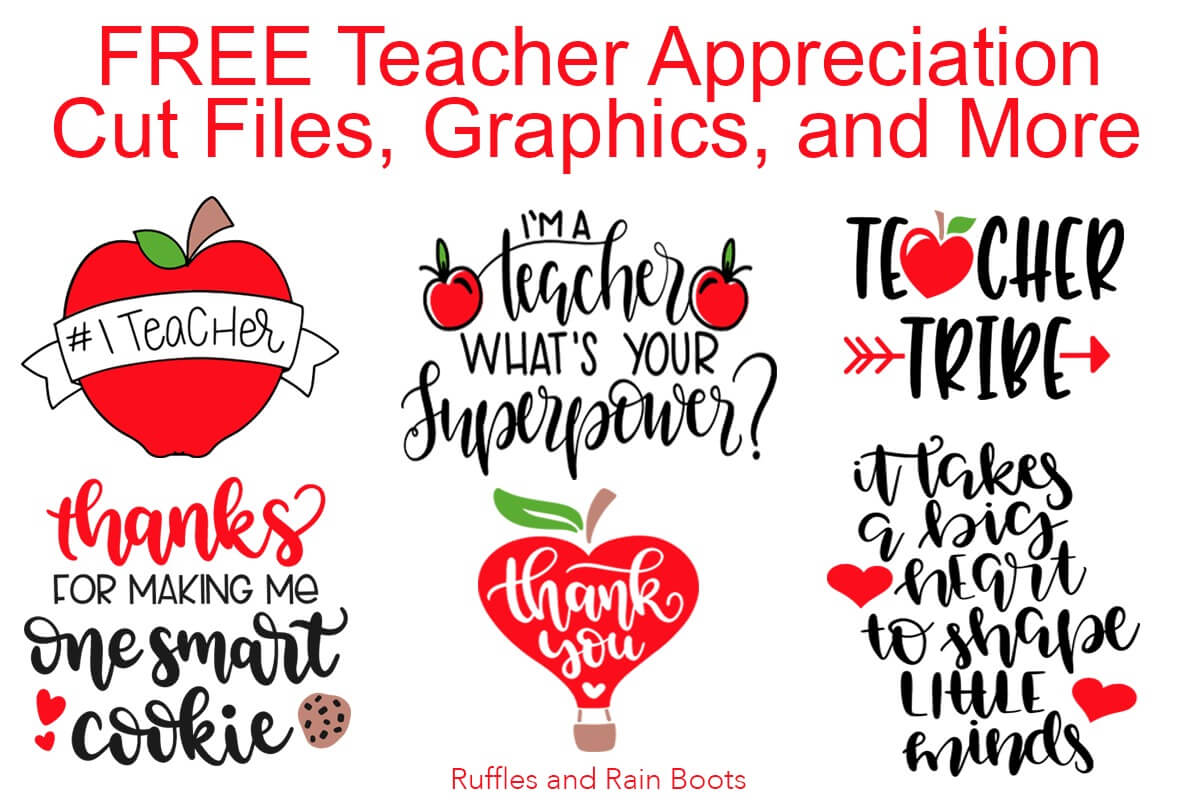 Free Teacher SVG Files Teacher Appreciation Week Back to School