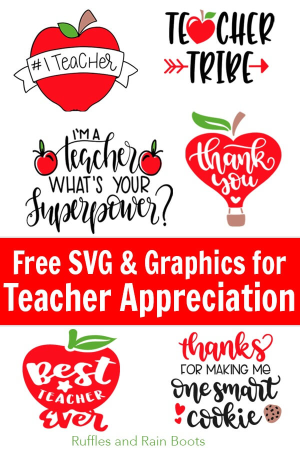 Use these free teacher SVG files to make the most amazing teacher appreciation week gifts ever. It's okay to be epic. #teachers #teacherappreciation #giftideas #teaching #school #backtoschool #freesvg #freecutfiles #freeSVGs #cricut #silhouette #rufflesandrainboots