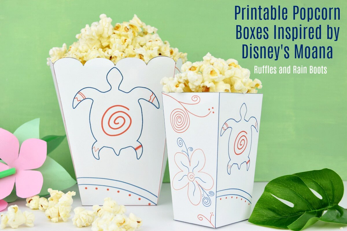 photograph relating to Printable Popcorn Boxes titled Moana Popcorn Box Printable - Spouse and children Video Evening Exciting!