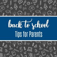 Back to School Tips for Parents to Reduce Stress and Anxiety