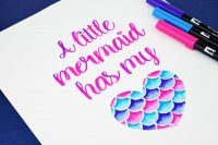 Free Mermaid Hand Lettering Practice Sheets