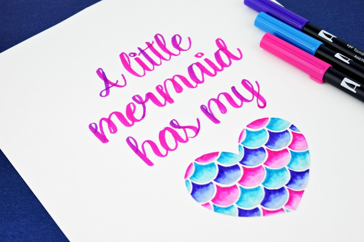 Mermaid Lettering Practice Set