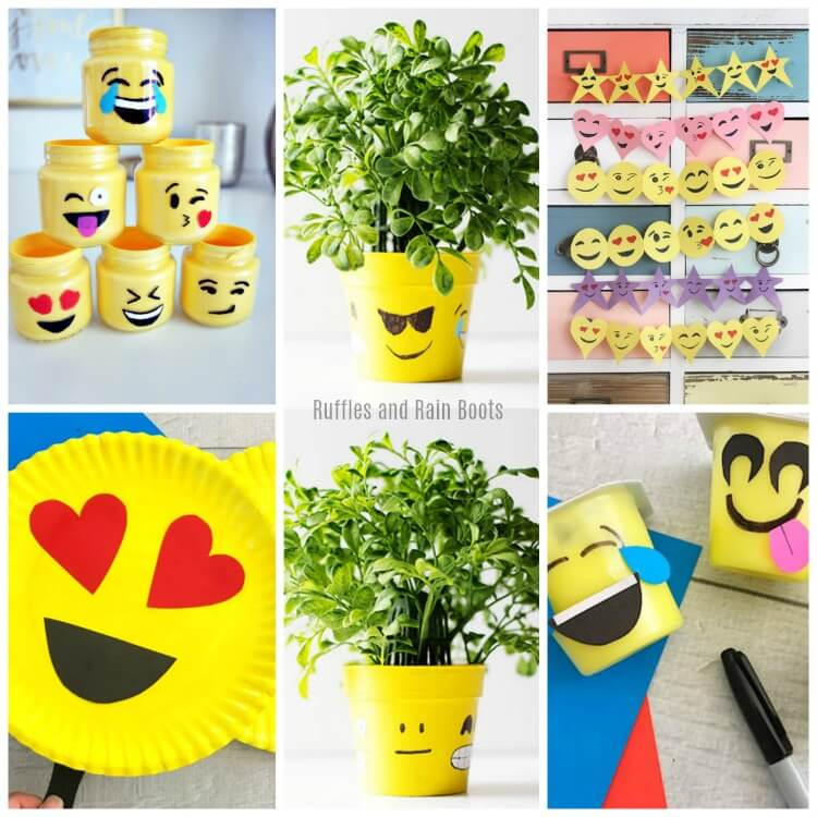 Emoji Crafts for Kids – Perfect for an Emoji Movie Night