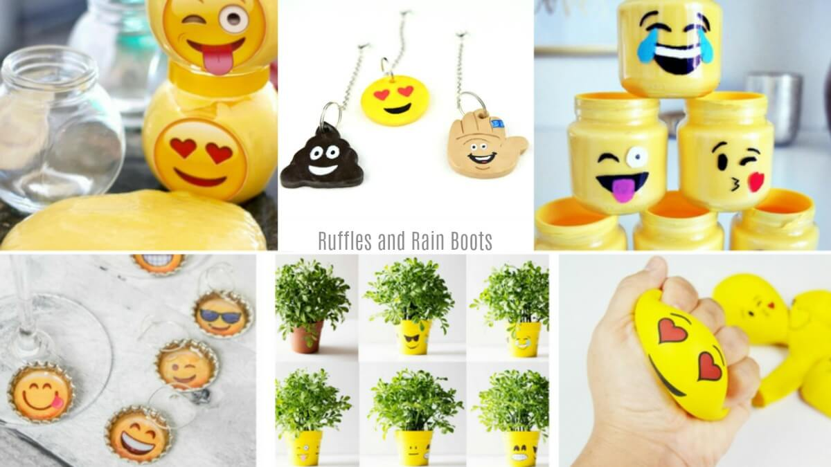 These emoji crafts for kids and adults will add some color and happy! Perfect for an Emoji Movie Night craft idea.