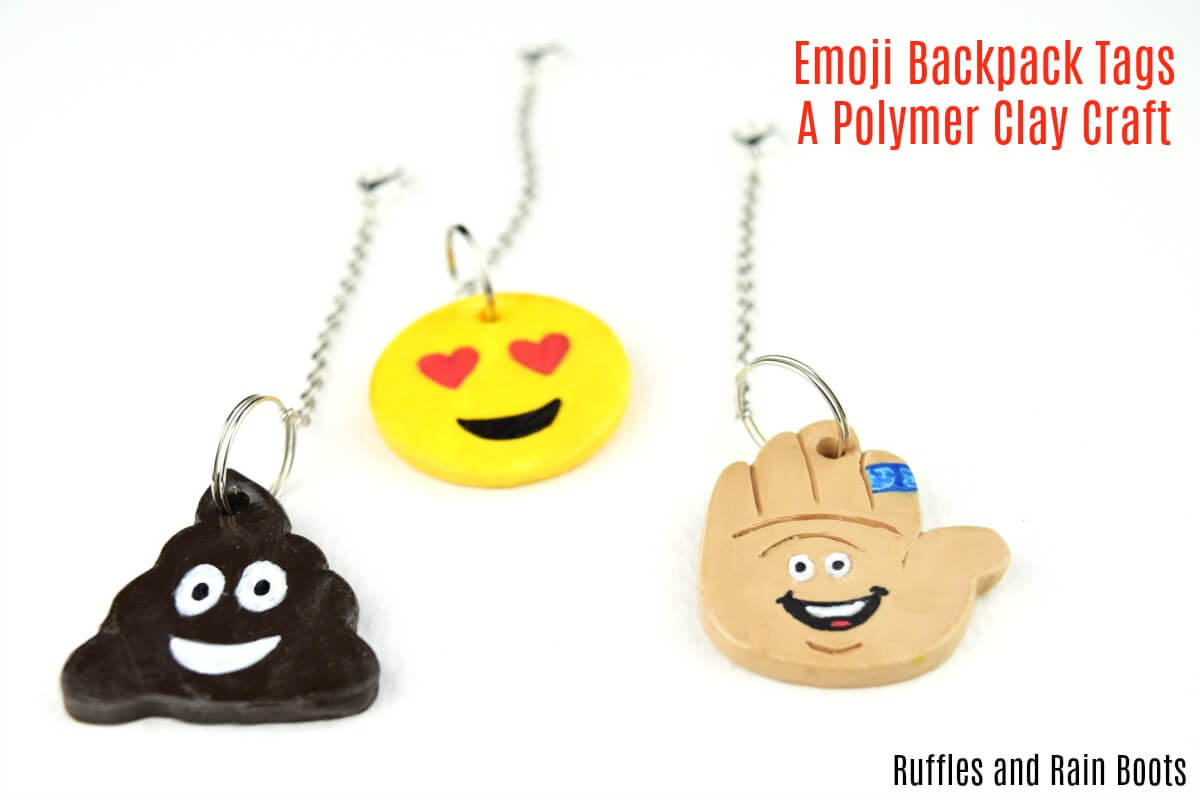 Fun and Easy Polymer Clay Emoji Backpack Tags for Kids Back to School