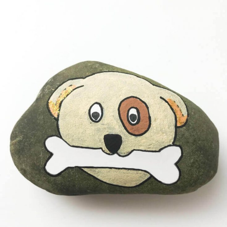 Dog Rock Painting