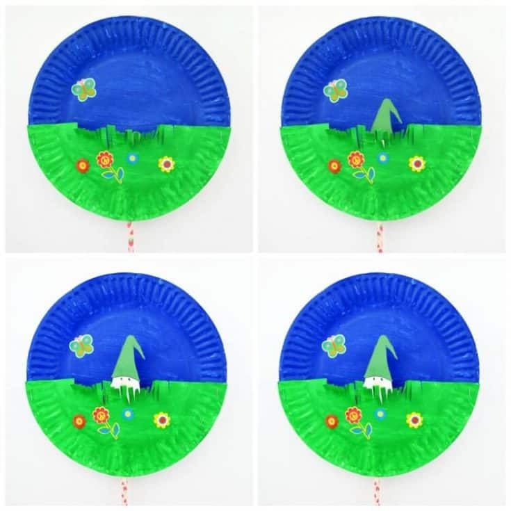 Gnome Paper Plate Craft Peek-a-Boo