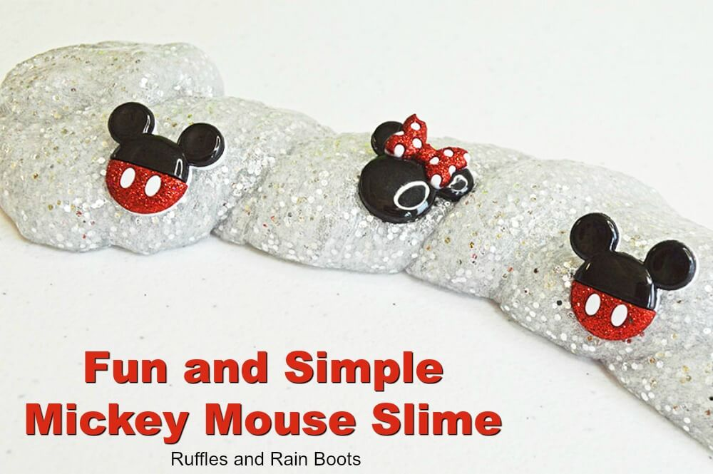 Mickey Mouse slime a Mickey Mouse craft for kids