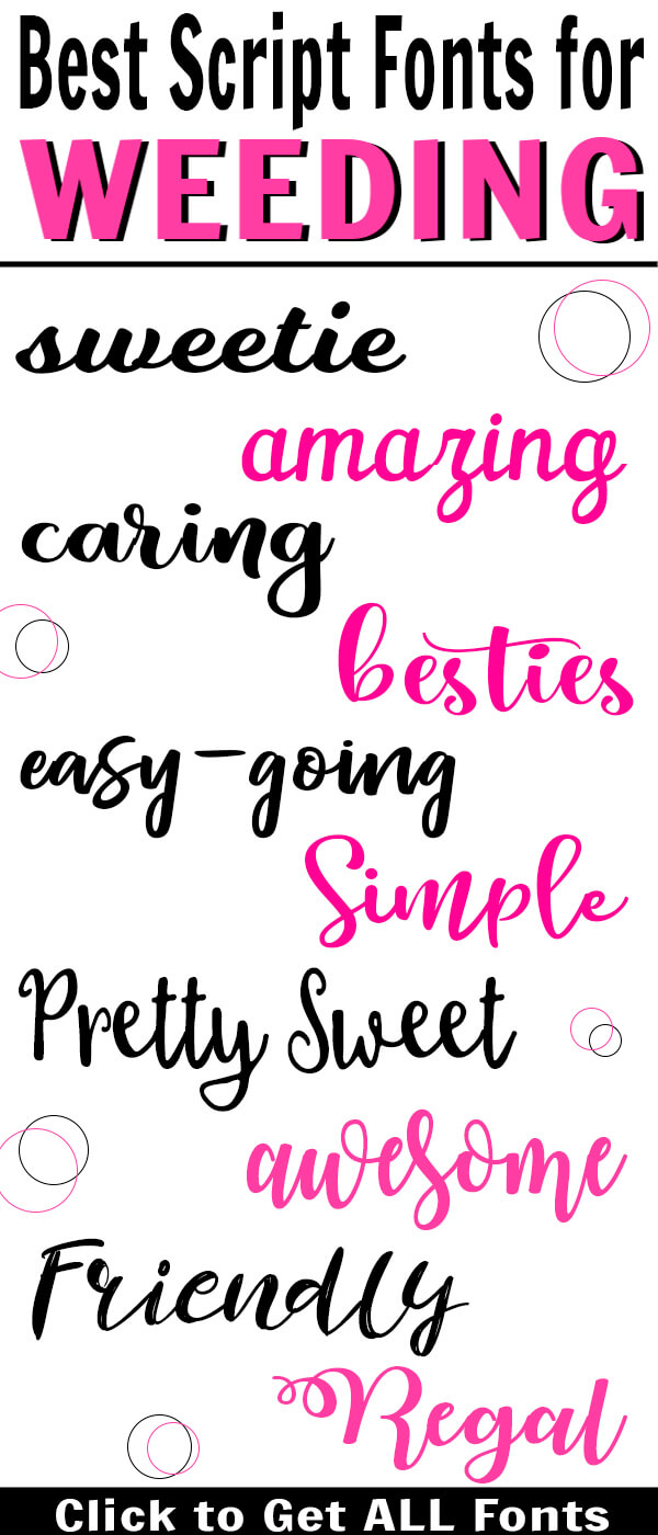 Be sure to have the best script fonts for weeding. They will make projects so much easier! #digitalcrafts #svgs #fonts #freefonts #cuttingmachines #cricut #silhouette #rufflesandrainboots