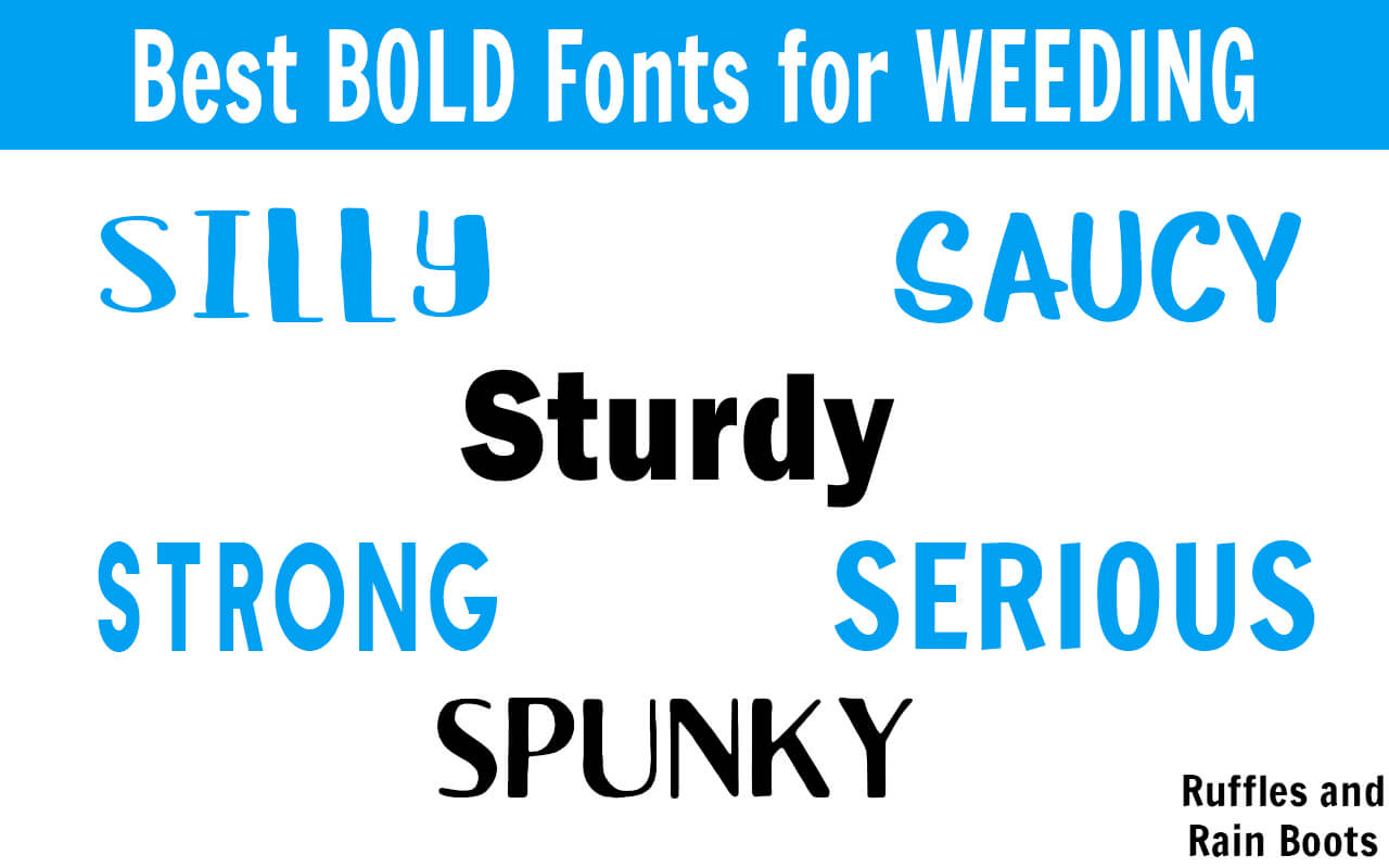 These bold fonts will make weeding vinyl and paper so much easier! #vinylcrafts #digitalcrafts #freefonts #fonts #cricut #silhouette #rufflesandrainboots