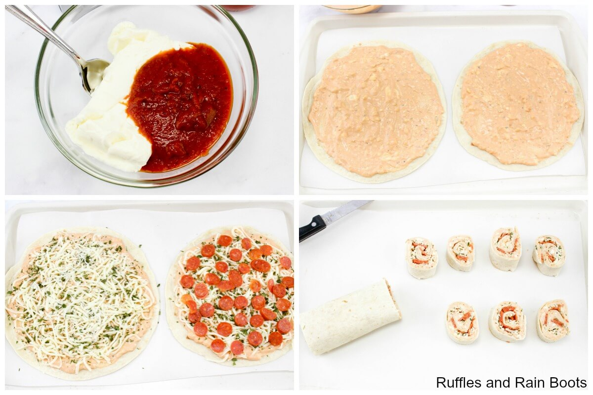 how to make pinwheel pizzas or pizza pinwheels