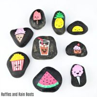 Kawaii Rock Painting Food Story Stones – Adorable Foodie Fun!