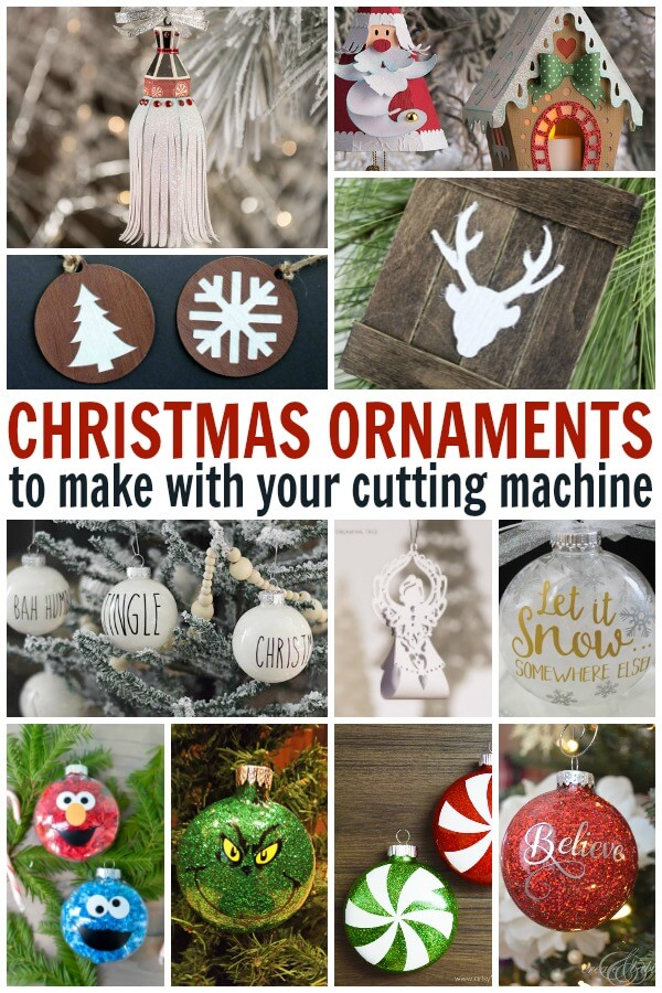 Cricut Christmas Ornament Project Ideas - Use these SVG files to create Christmas  ornaments for the - Cricut Christmas Ornament Projects - Holiday Fun! - Ruffles And Rain