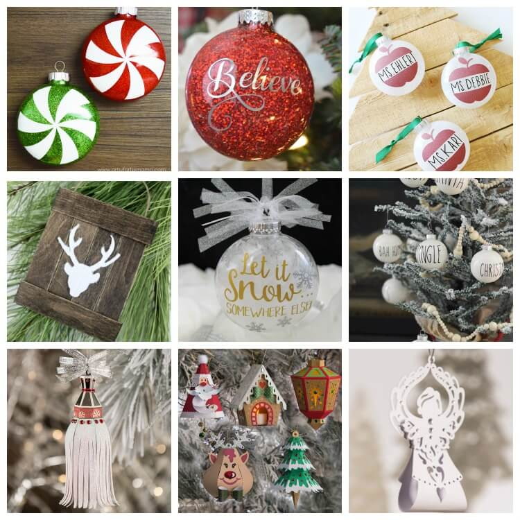 Cricut Christmas Ornament Projects - Holiday Fun! - Ruffles and Rain ...