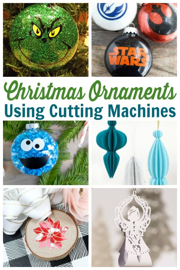 Cricut Christmas Ornament Project Ideas - Use these SVG files to create Christmas ornaments for the holiday season. From funny to farmhouse, these ornaments are sure to please. #christmas #ornaments #cuttingfiles #cricut #silhouette #handmadehoidays #holidaycrafts #christmasornaments #svgfiles #freesvgs #ornamenttutorials #rufflesandrainboots