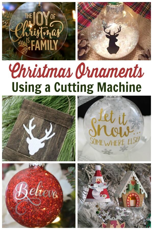 Cricut Christmas Ornament Projects - Holiday Fun!