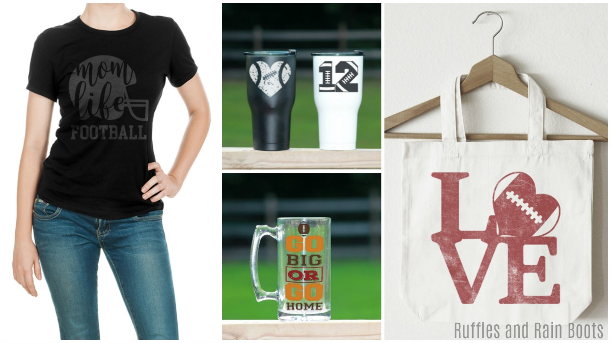 Ideas for Football SVG Cut File Projects and DIY Gift Ideas for Football Lovers