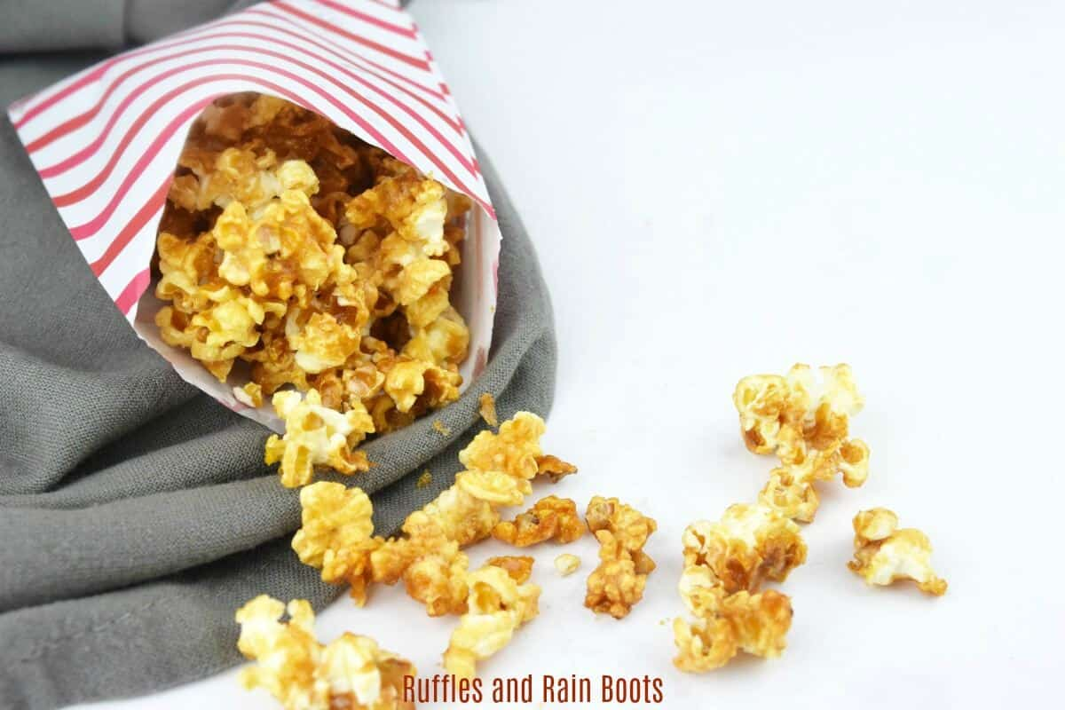 Make this easy caramel popcorn with no corn syrup