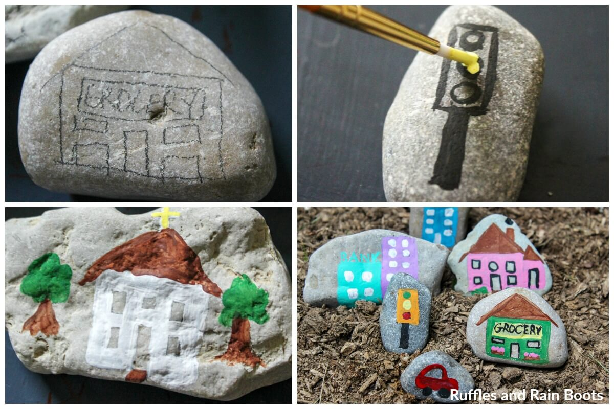 how to make a rock village rock painting idea kindness rock