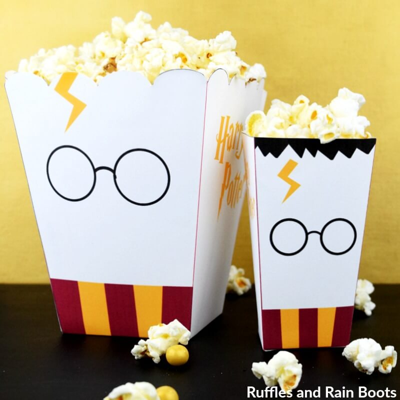photo relating to Popcorn Box Printable identify Cost-free Harry Potter Popcorn Box Printables - 2 Dimensions!