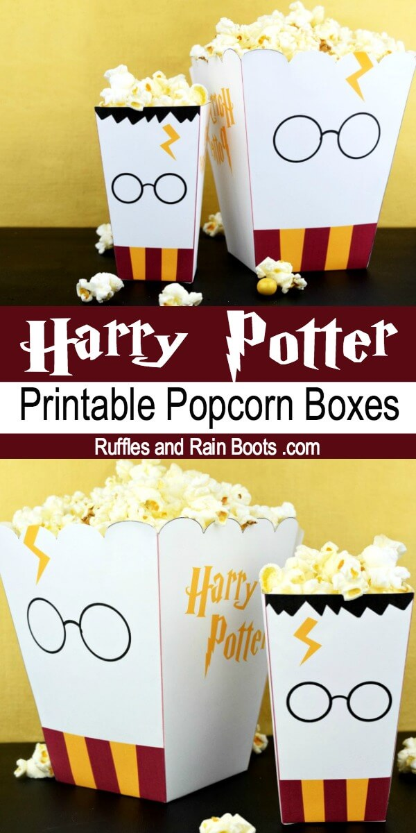 photograph about Printable Popcorn Boxes referred to as Cost-free Harry Potter Popcorn Box Printables - 2 Dimensions!