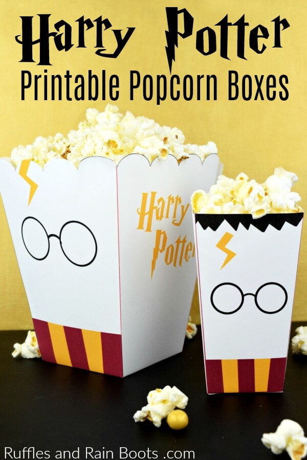 picture relating to Printable Popcorn Boxes known as Free of charge Harry Potter Popcorn Box Printables - 2 Dimensions!