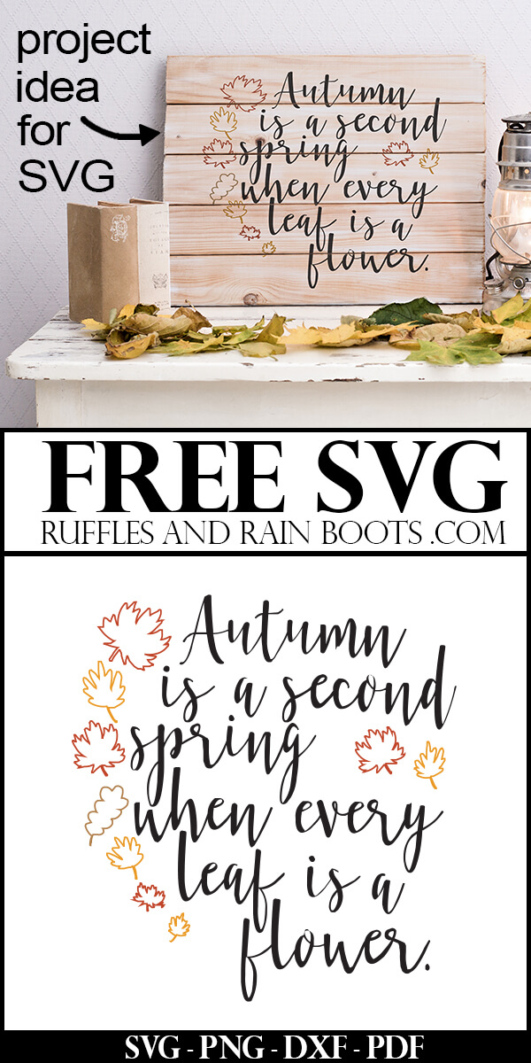 Free Autumn SVG - Get this free Autumn SVG and Fall hand lettering printable. You can even print it off completed and pop it in a frame. #freesvg #freefallprintable #freeprintable #falldecor #ilovefall #digitalcrafts #freesvgfiles