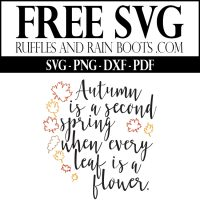 Free Autumn SVG – A Free Fall SVG  to Welcome in the Season
